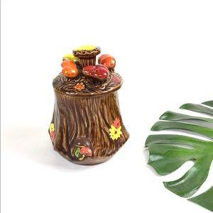 Vintage 70s mushroom cookie jar ceramic canister